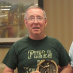 Skeet Carr with 2014 Pennant Winner Trophy